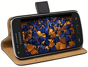 mumbi Ledertasche im Bookstyle für Samsung Galaxy Core Plus Tasche