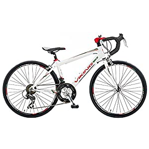 Viking Boy's Giro D'Italia 24 Inch Wheel Road Racing Bike - White, 32 cm