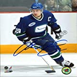 Markus Naslund Autographed / Signed Vancouver Canucks Throwback Jersey 8x10 Photo at Amazon.com