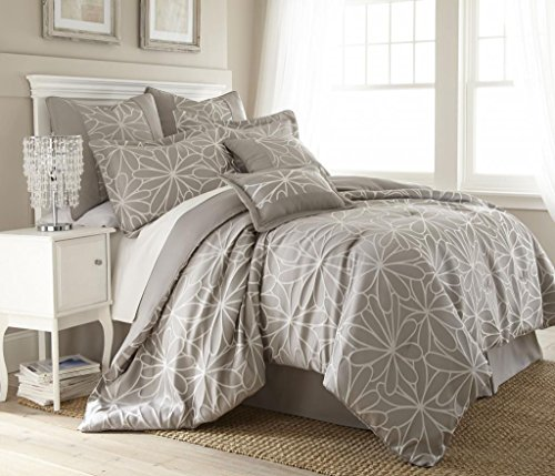 Kate Floral 8-Piece Comforter Set Queen Taupe