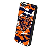 NFL Chicago Bears Team Silicone Apple iPhone 5 Cover Camo with (Retail Packaging)