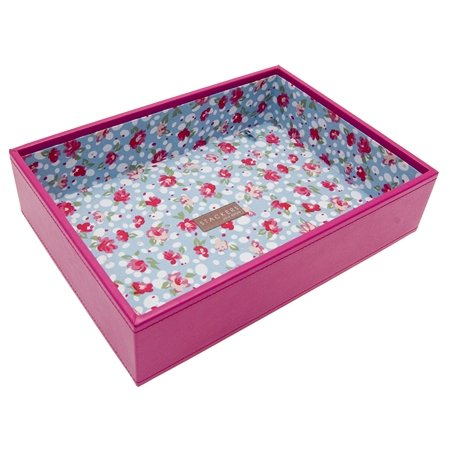 Hot Pink Stacker Jewellery Tray -1 Deep Section