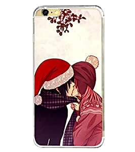 Kissing Couple 2D Hard Polycarbonate Designer Back Case Cover for Apple iPhone 6s Plus :: Apple iPhone 6s+