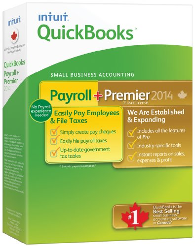 Intuit Quickbooks Payroll & Premier 2014, English - Accounting Software [OLD VERSION]