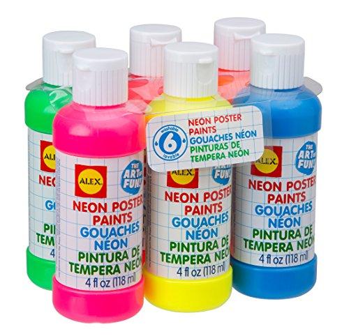 ALEX Toys Artist Studio 6 Neon Poster Paints (Neon Tempera Paint compare prices)