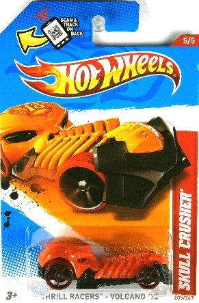 Hot Wheels 2012 Skull Crusher, Thrill Racers - Volcano '12 - 5/5 by Mattel - 1