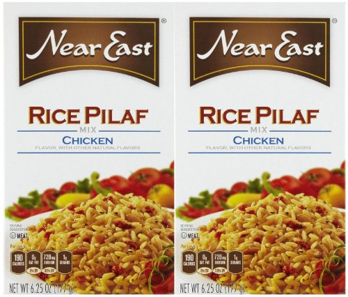 Near East Chicken Flavored Rice Pilaf, 6.25 Oz, 2 Ct