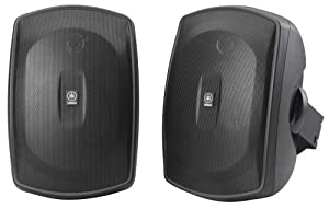 Yamaha NS-AW190BL 2-Way Indoor/Outdoor Speakers (Pair, Black) (Discontinued by Manufacturer)