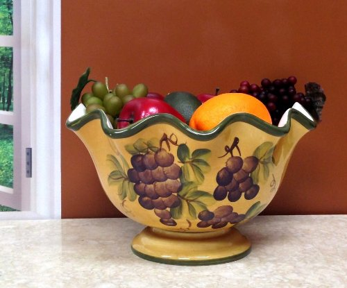 Tuscany Grape Fruit Bowl New Ebay