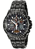 Citizen Men's JY0005-50E Eco-Drive Skyhawk Black Ion Plated Black Dial Watch