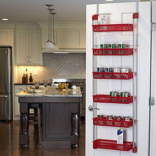 basket the door organizer storage rack holder shelf hanging closet kitchen ebay