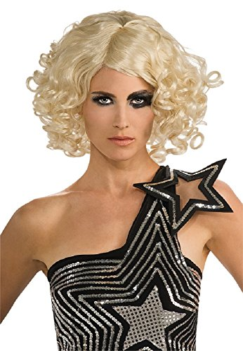 Blonde Curly Lady Gaga Wig