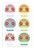 Kikkerland Sugar Skull Rubber Magnets, Set of 6