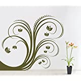 Decal Style Green Swirl Wall Sticker Large Size-23*20 Inch