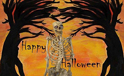 Halloween Skeleton Spooky Trees 5'x7'area Rug From Art