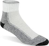 Wigwam Men's Cool-Lite Mid Hiker Pro Quarter Length Sock,Large,White/Pewter