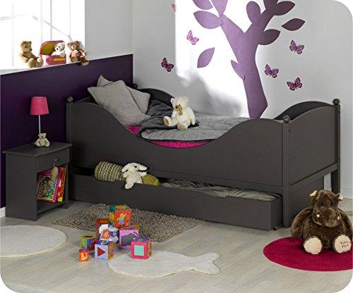 Machambredenfant - Lit Enfant Color taupe 90x190cm