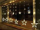 Homedecoam LED Sternenvorhang mit 138 LED-Lichter AC 220V...