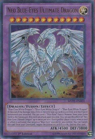 Yu-Gi-Oh! - Neo Blue-Eyes Ultimate Dragon (MVP1-EN001) - The Dark Side of Dimensions Movie Pack - 1st Edition - Ultra Rare (Blue Eyes Ultimate Dragon compare prices)
