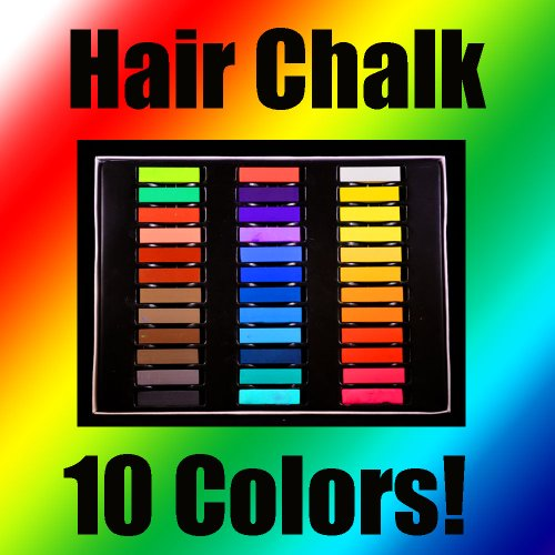 HAIR CHALK TEMPORARY HAIR COLOR 10 BEAUTIFUL BRIGHT COLORS!!!