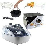 Mline Multi Fryer Heißluft Fritteuse inkl. Kochbuch und Zubehör 1300
