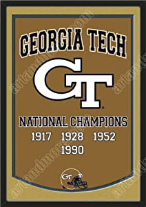 Dynasty Banner Of Georgia Tech Yellow Jackets With Team Color Double Matting-Framed... by Art and More, Davenport, IA
