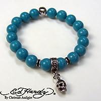 [エドハーディ]Ed Hardy ブレスレット ターコイズ ビーズ 数珠 EHBSS53 正規輸入品