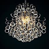 European-Style Modern 6 Light Pendant with K9 Crystal Balls