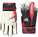 Adidas Men's Predator Competition Gloves - Black/White/Violet/Solid Blue/Blue, Size 4