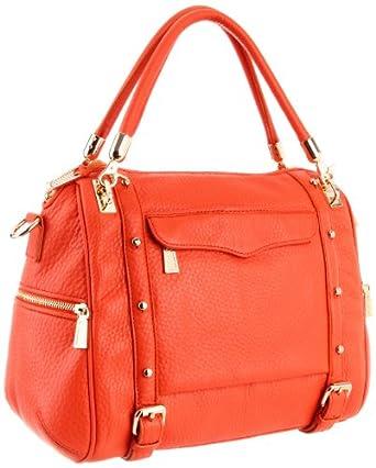 Rebecca Minkoff Cupid Shoulder Bag,Bright Orange,One Size