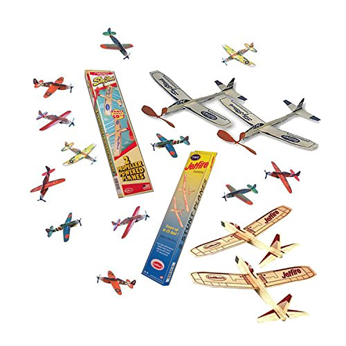 Jetfire-Gliders-Balsa-Wood-Airplanes-and-Sky-Streak-Rubber-Band-Powered-Airplanes-with-Kids-Glider-Planes-Foam-Toys-Bundle