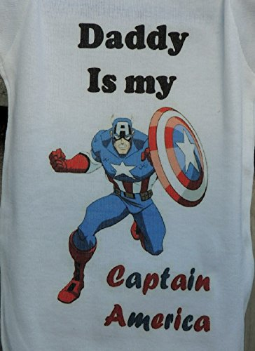 Daddys Is My Captain America Shield Shirt Infant Baby Onesie 3-6 Months