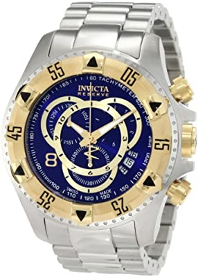 Invicta Men's 1878 Reserve Chronograph Blue Dial Stainless Steel Watch