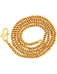 Vook Gold Brass Rope Design Chain For Men & Women (Thickness: 5 Mm)