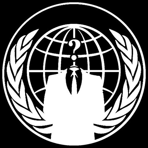 Anonymous Occupy America Decal Vinyl Sticker Cars Trucks Vans Walls Laptop WHITE 5.5 In KCD308
