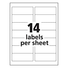 "Avery AVE5962 Easy Peel Address Labels for Laser Printers, 1-1/3"" x 4"", Permanent, 3500 Per Pack, White"