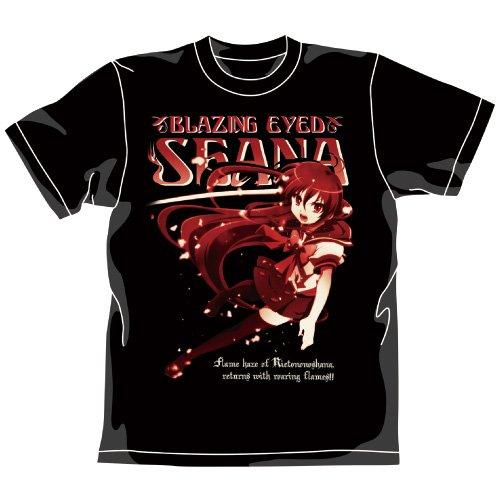 灼眼のシャナⅡTシャツ/BLACK-L