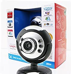 Logicam Webcam- USB Webcam, Built-in Microphone, Plug & Play Webcam, 6 LED lights, Plug and Play USB Web Camera which does not need any driver - Ideal Chat webcam and Ideal Gift [Price reduced]