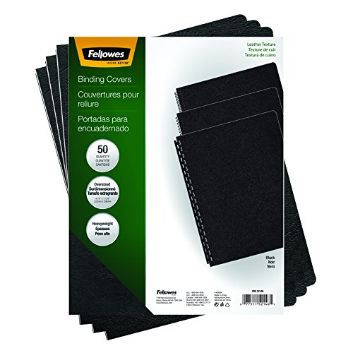 Fellowes Executive Binding Presentation Covers, Oversize Letter, Black, 50