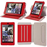 i-BLASON Google Nexus 7 inch Tablet Genuine Leather Case Cover (Smart Cover Function: Automatically Wakes and Puts the Nexus 7 to Sleep) Detachable Landscape / Portrait View for 8GB 16GB Android 4.1 Jelly Bean - Three Year Warranty (Red) ~ i-Blason
