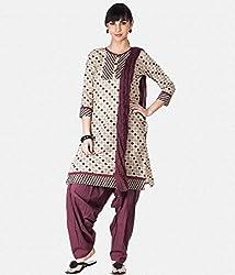 DWM Women Cotton Semi Patiala Salwar & Duptta Set
