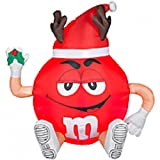 Christmas 3' Tall Inflatable Red M&M Outdoor Holiday Airblown Decoration