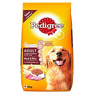 Pedigree Adult Dog Food Meat & Rice, 10 kg Pack