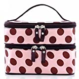 Damen Punkt Kasten Makeup Kosmetik Tasche Handtasche Werkzeug Box Kultur