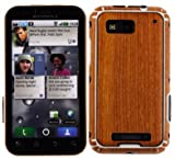 Skinomi TechSkin - Light Wood Film Shield & Screen Protector for Motorola Defy Plus + Lifetime Warranty