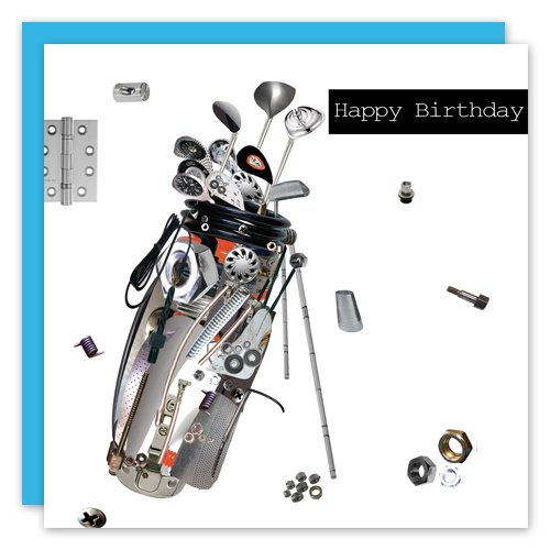 Golf Package Sets Young Gun Uk Happy Birthday Golf Greeting Card