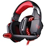 Kotion Each G2100 Over Ear Gaming Headphones With Mic, LED And Vibration (Black/Red)