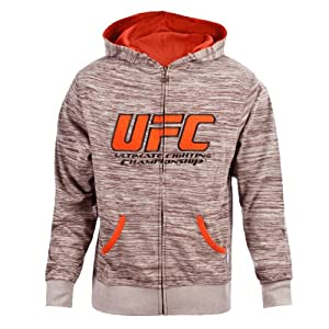 UFC Men's Tan/Black Twisted Zip Up Hoodie (X-Large)