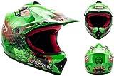 ARROW AKC-49 Green · Sport Junior Cross-Bike Motorrad-Helm Quad Pocket-Bike Kinder-Helm Cross-Helm Enduro MX Kinder-Cross-Helm Moto-Cross-Helm Helmet Kids