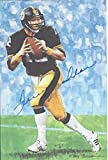 Terry Bradshaw Autographed Goal Line Art Card Pittsburgh Steelers Hall of Fame inductee 1989